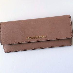 4b4f7b5f6f71 Michael Kors Bags - Michael Kors Flat Wallet ~ Dusty Rose Leather NWT